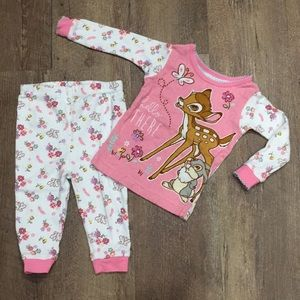 Baby Girl Bambi 🦌 Pajama Set